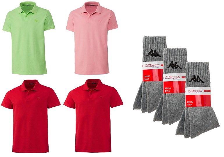 4 Herren Chiemsee Poloshirts + 9 Paar Kappa Socken für 44,95€