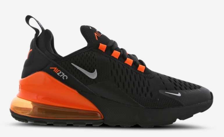 Nike Air Max 270 (GS) Sneaker in Schwarz/Orange für 79,99€inkl. Versand (statt 120€)
