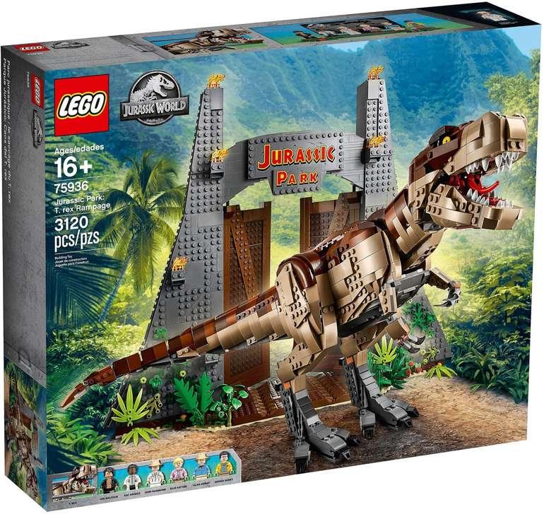 Lego 75936 Jurassic World - Jurassic Park: T. Rex' Verwüstung für 199€ (statt 240€)