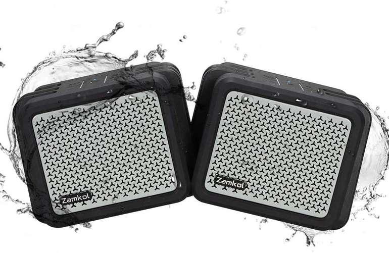 Zamkol ZK206 25W Bluetooth Lautsprecher Set (IPX7, TWS, Freisprechfunktion) für 29,99€ inkl. Versand (statt 55€)
