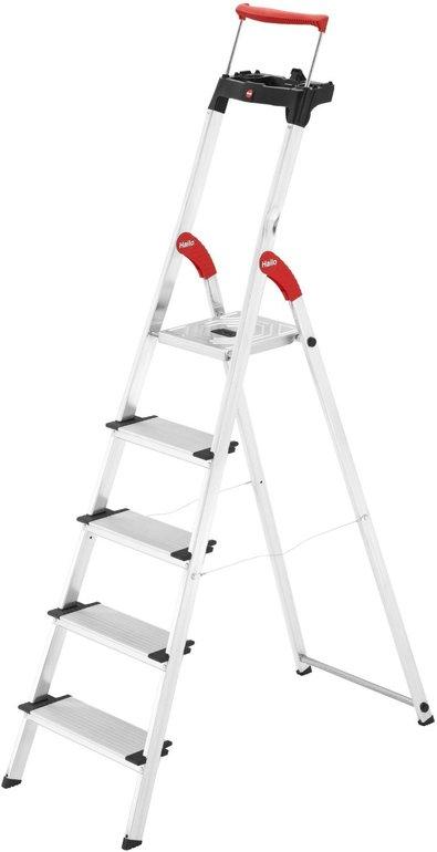 Hailo XXR 5-Stufen-Leiter mit Haltebügel für 57,99€ inkl. Versand (statt 70€)