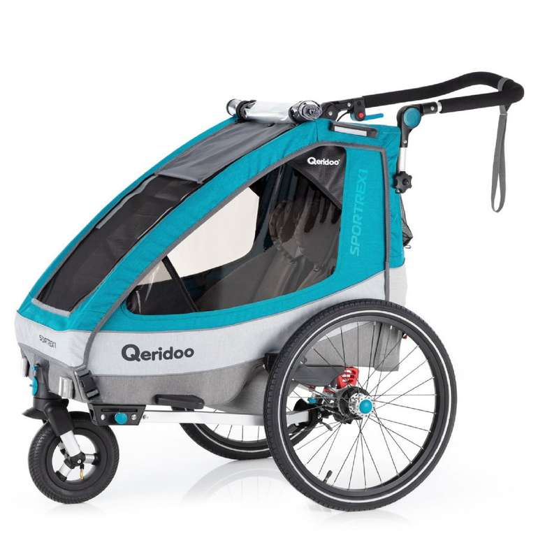 Qeridoo Kinderfahrradanhänger Sportrex 1 (2020) für 375,29€ inkl. Versand (statt 417€)