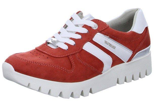 Tom Tailor Damen Sneaker in orange/weiß für 23,74€ inkl. Versand (statt 50€)