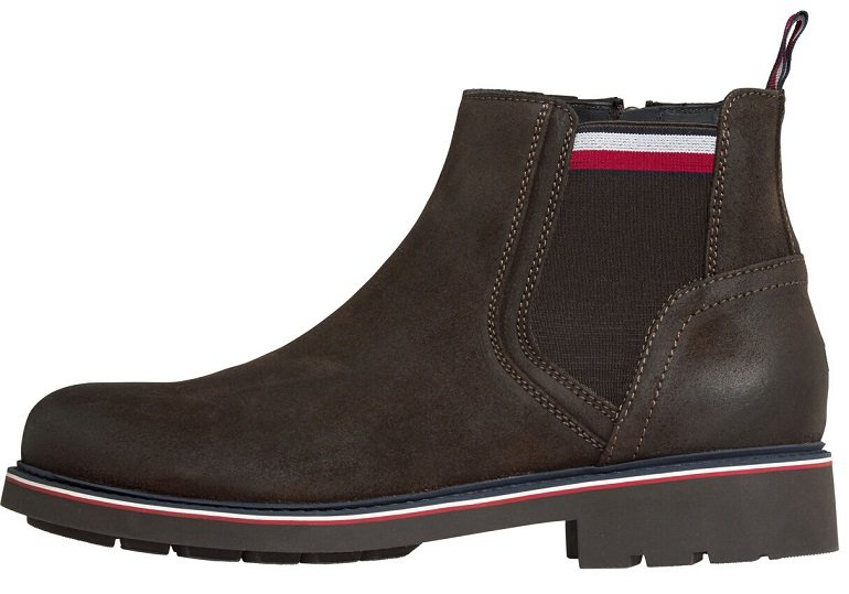 Tommy Hilfiger Corporate Elastic Suede Chelsea Boots