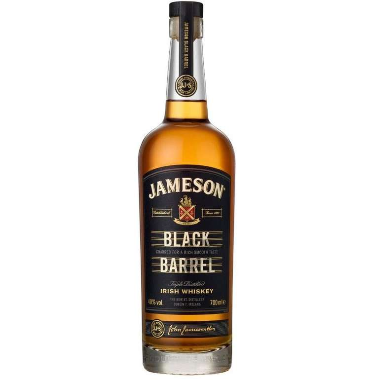 Jameson Black Barrel Blended Irish Whisky (40% Vol., 700 ml) für 26,90€ inkl. Versand (statt 30€)