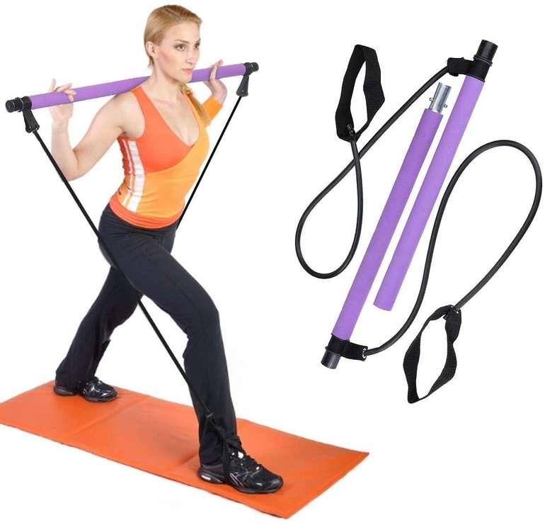 Outerdo Pilates Stange mit Widerstandsband für 9,20€ inkl. Prime Versand (statt 23€)