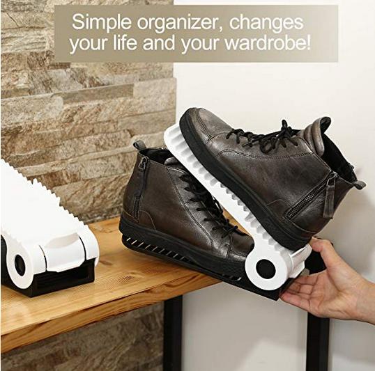10er Pack verstellbare Schuh Organizer für 10,99€ (Prime) statt 22€