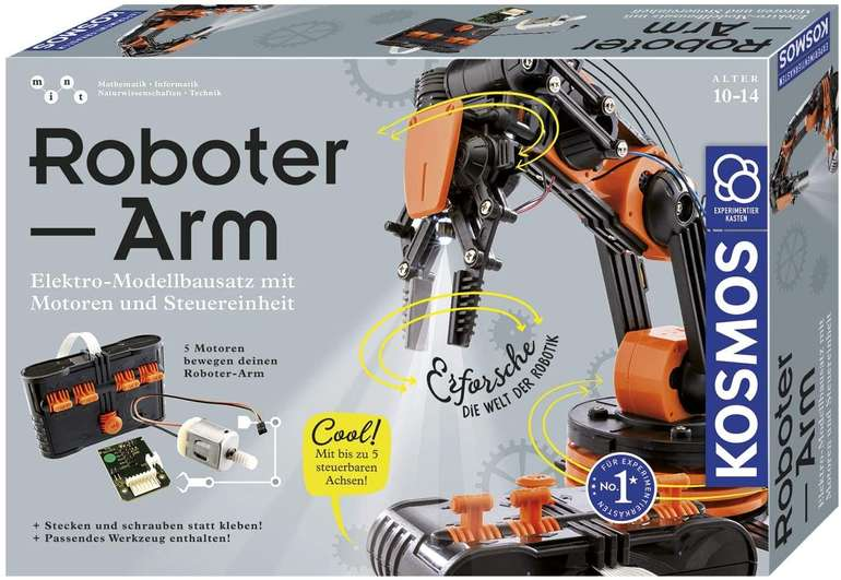 Kosmos 620028 Roboter-Arm (Modellbausatz) für 26,99€ inkl. Versand (statt 55€) - Thalia Club!