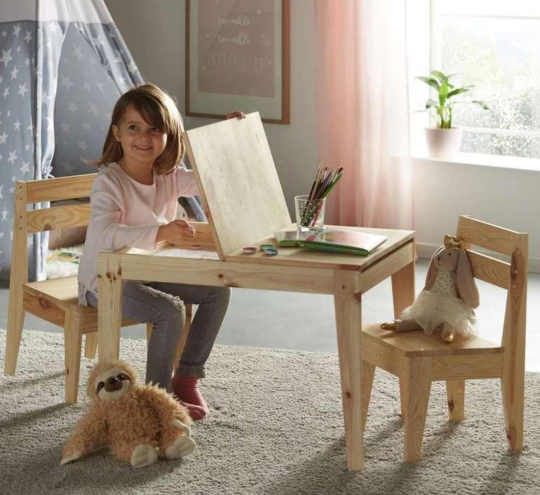 Modern Living Kindersitzgruppe aus Kiefer (Echtholz) Massiv für 40,88€ inkl. Versand (statt 56€)