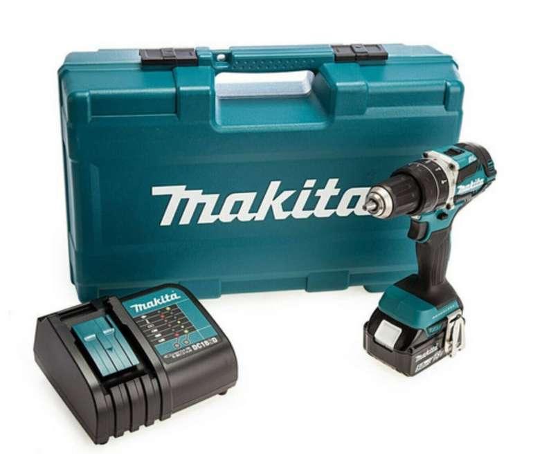 Makita Akkuschrauber-Set mit 101-teiligem Zubehör-Set (DHP484STX5) für 238,90€ inkl. Versand (statt 260€)