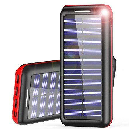AKEEM - Powerbank mit 24.000mAh & Solarpanel für 20,99€ mit Prime