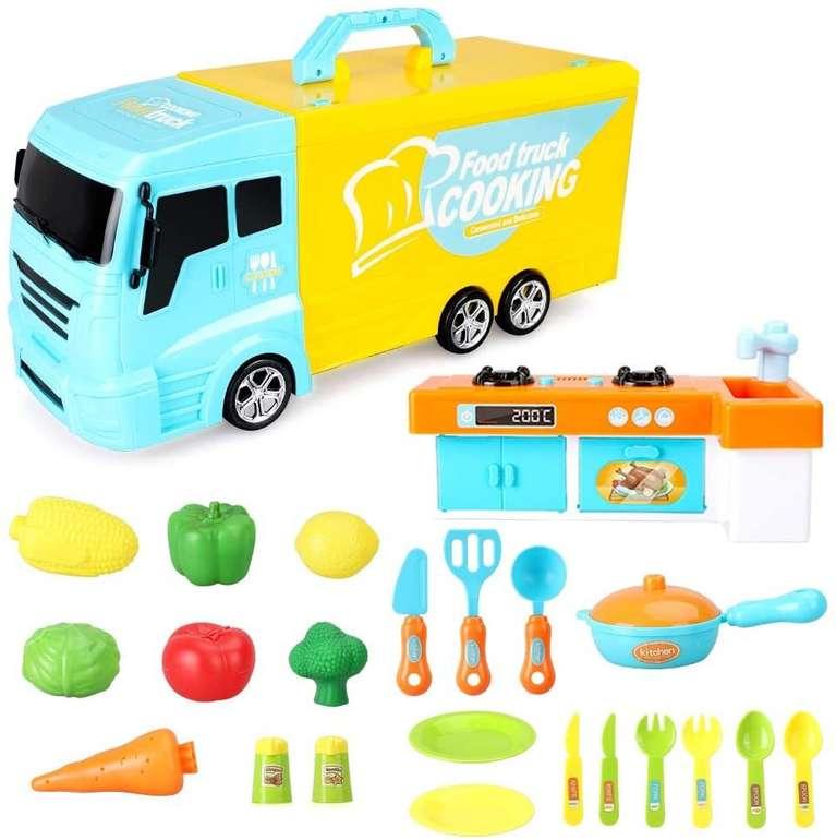 2 BeebeeRun Spielzeuge günstiger bei Amazon, z.B. 33-teiliger Food Truck für 14,99€
