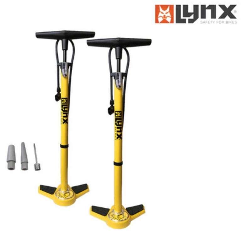2er Pack Lynx Stahl-Luftpumpen mit Manometer und Ventiladapter für 25,90€ inkl. Versand (statt 38€)