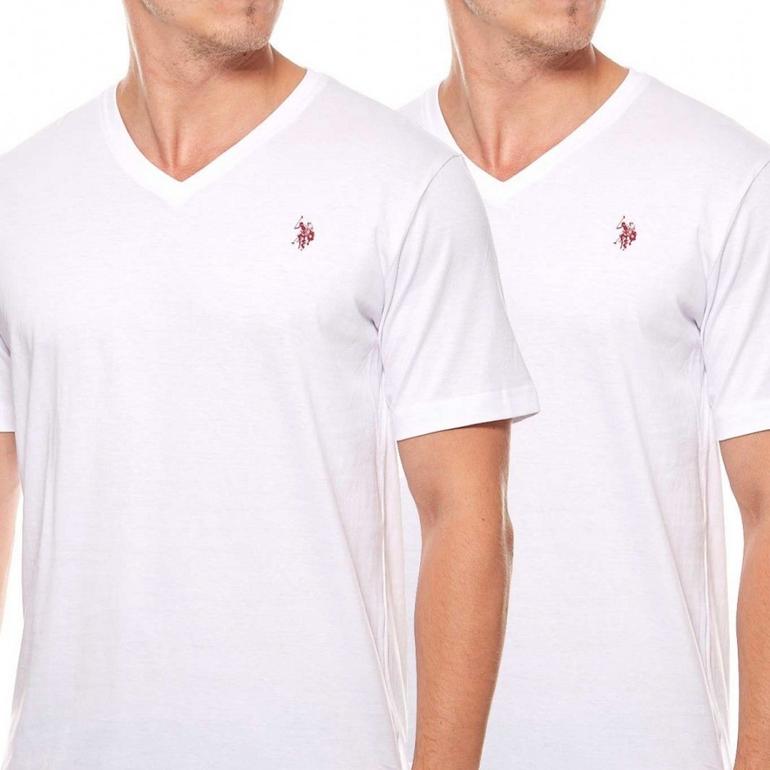 2er-Pack U.S. Polo Assn. T-Shirts (V-Neck & Rundhals) für Herren nur 14,99€