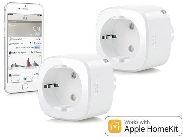 Doppelpack Elgato Eve Energy Smart Plugs (HomeKit komptl.) für 55,90€ - Refurb!