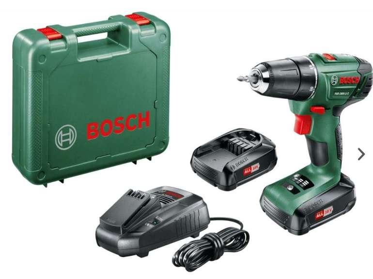 Bosch PSR 1800 LI-2 18V Akkubohrschrauber (2 x 1,5 Ah Akku, Ladegerät, Koffer) für 92,90€ inkl. Versand