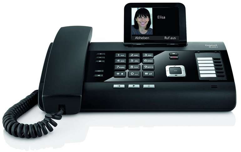 Gigaset DL500A - schnurgebundenes DECT Telefon mit Anrufbeantworter & Farbdisplay für 67€ (statt 107€)