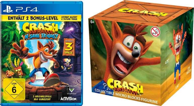Crash Bandicoot N-Sane Trilogy (PS4) + 2 Bonus Level und Nanoblock für 26€ (statt 37€)