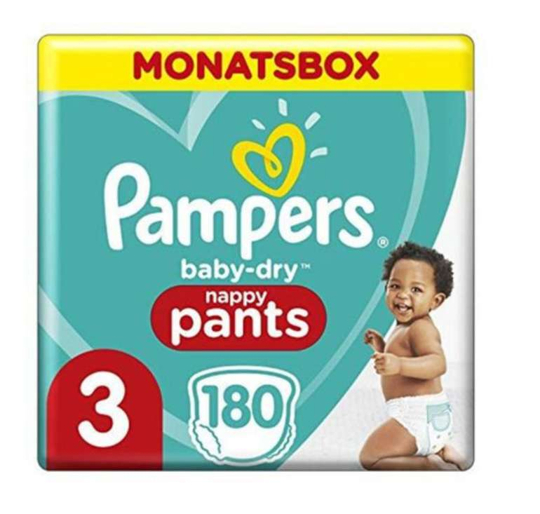 180er Pack Pampers Baby Dry Größe 3 (6-11kg) für 29,99€ inkl. Versand (statt 38€)