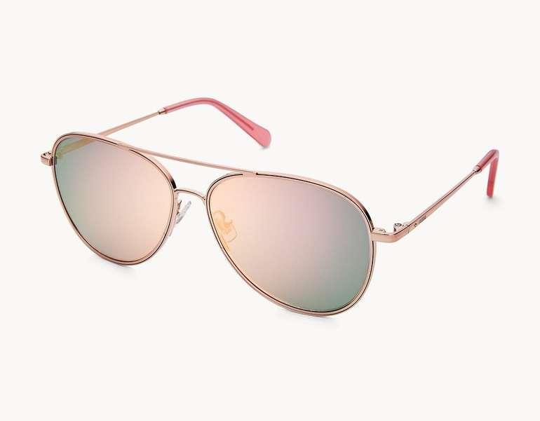 Fossil Damen Sonnenbrille Bennet Aviator in 3 Farben für je 38,25€ inkl. Versand (statt 65€)