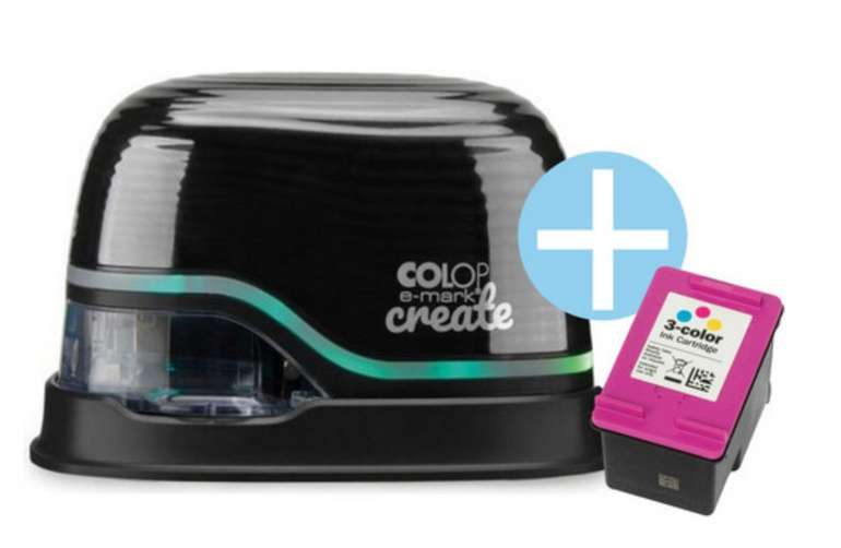 Colop E-Mark tragbarer Mini-Drucker mit 2 Tintenpatronen für 235,90€ inkl. Versand (statt 323€)
