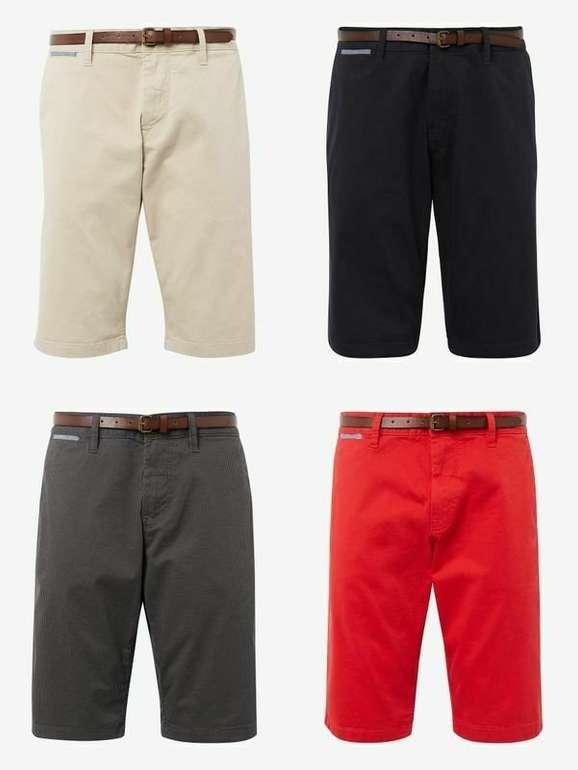 Tom Tailor Herren Josh Regular Slim Chino Shorts mit Gürtel in 4 Farben für je 18,39€ inkl. Versand (statt 30€)