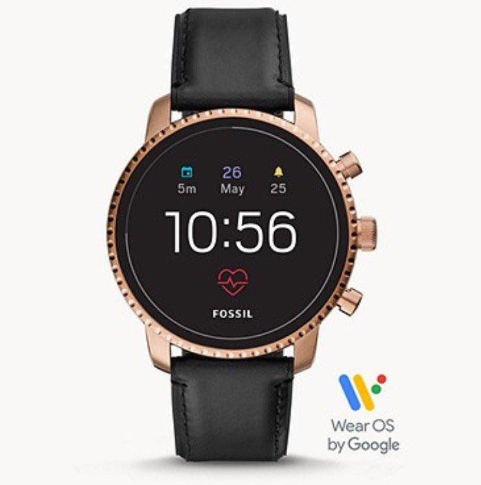 Fossil FTW4017 Q Explorist HR - Wear OS Smartwatch (Gen. 4, Lederarmband, GPS, NFC, Pulsmesser) für 99€