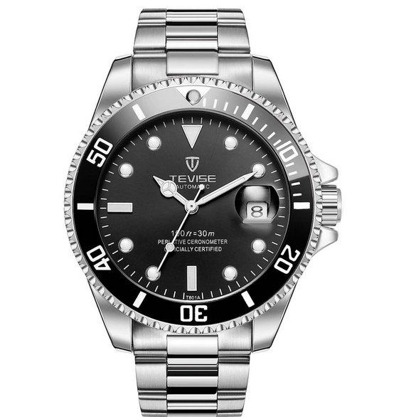 Tevise T801A Mechanische Edelstahl Armbanduhr mit Datumsfunktion für 13,96€