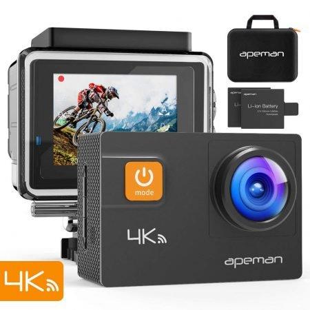 Apeman wasserdichte WiFi 4K Action Cam + Leuchttisch für 59,99€ inkl. Versand