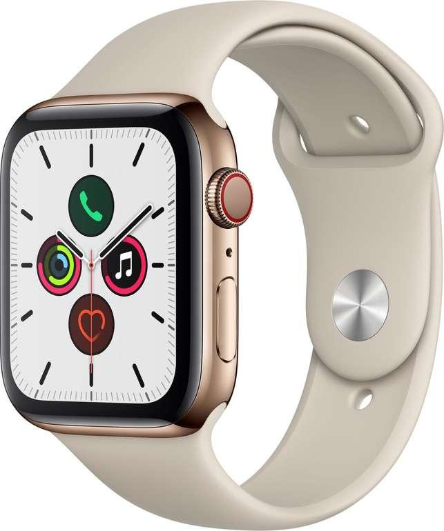 Apple Watch Series 5 GPS + LTE 44mm Edelstahl mit Sportarmband für 545€ (statt 734€)