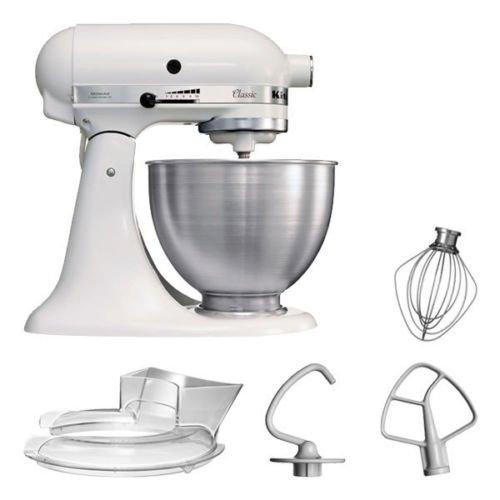 KitchenAid 5KSM45EWH – Küchenmaschine mit 250W (ref.) für 222€ (statt 289€)