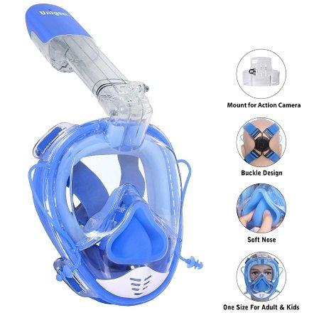 Unigear Schnorchelmaske für Kinder & Erwachsene nur 18,99€ inkl. VSK