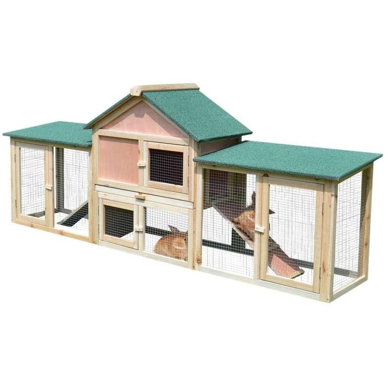 Pawhut Kaninchenstall mit Auslaufbereich für 107,99€ inkl. Versand (statt 135€)