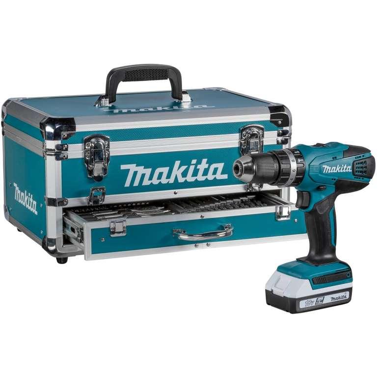 Makita 18V Akku-Bohrschrauber + Zubehörset im Koffer (HP457DWEX4) für 189,95€ inkl. Versand (statt 208€)