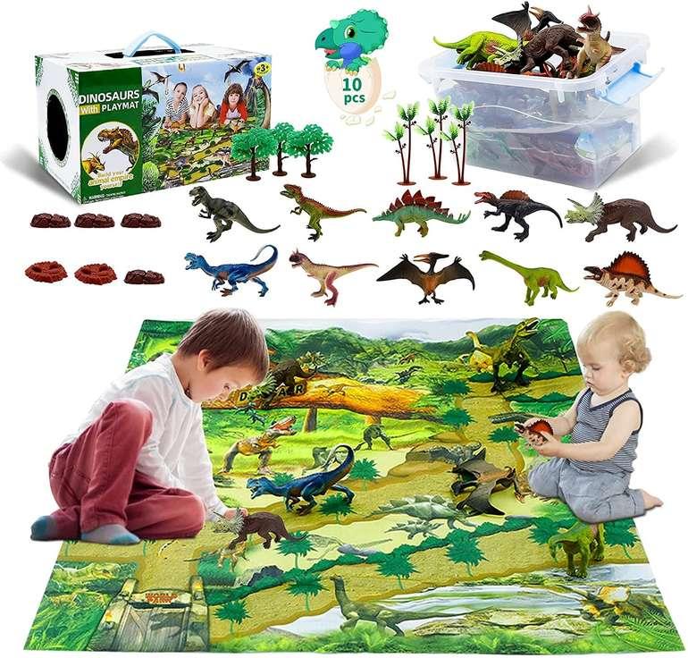 Berhaya Dinosaurier Spielzeug Set inkl. Spielmatte für 10,99€ inkl. Prime Versand (statt 20€)