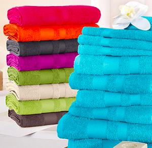 """10-tlg. Handtuch Set """"Vanessa"""" mit abgesetzter Bordüre für 19,99€ (statt 26€)"""