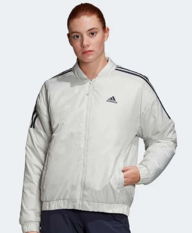 adidas Essentials Insulated Bomberjacke in Weiß für 31,85€ inkl. Versand (statt 46€)