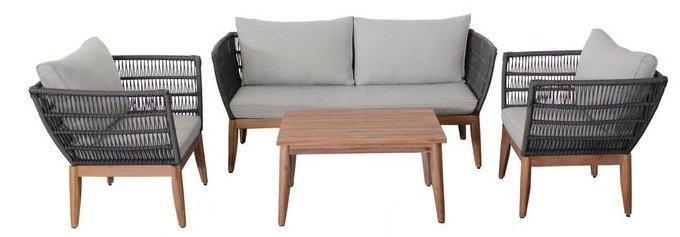 Bessagi Garden Loungegarnitur 'Manolo' in Akazie für 378,15€ (statt 550€)