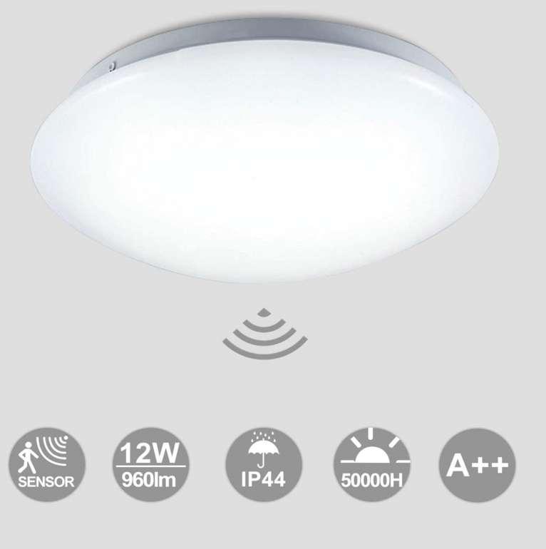 Hengda LED Deckenlampe mit Bewegungsmelder (12W, Ø24 cm) für 18,05€ inkl. Prime Versand (statt 26€)