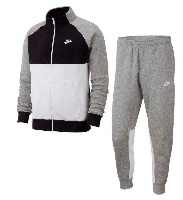 Nike Trainingsanzug Sportswear Ce Track Suite Fleece Grau Und