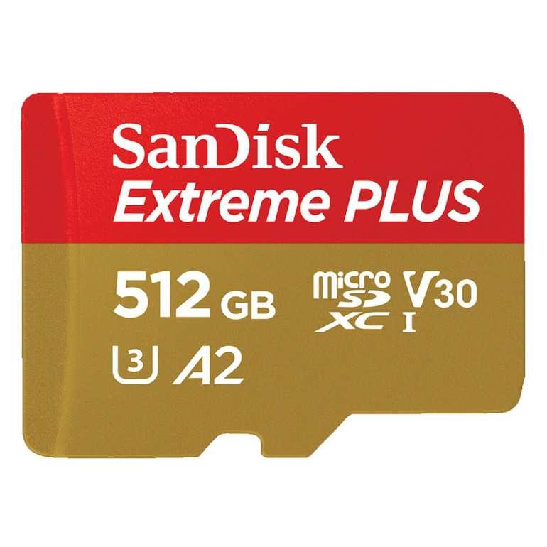 Sandisk Extreme Plus - Micro-SDXC Speicherkarte mit 512GB (170 MB/s) für 66€ inkl. Versand (statt 90€)