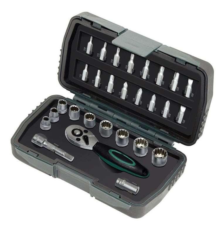 """Mannesmann 28-tlg. """"Gear Lock"""" Steckschlüsselsatz """"M29185"""" für 14,99€"""