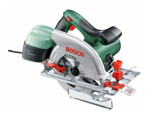 Bosch Kreissäge PKS 55 A (Parallelanschlag, Karton, 1200 Watt) für 74,68€