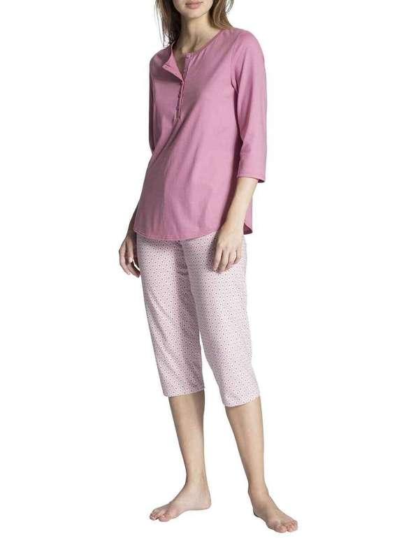 "Calida Pyjama ""Cosy Jersey Fun"" 3/4 für Damen für 44,76€ inkl. Versand (statt 56€)"