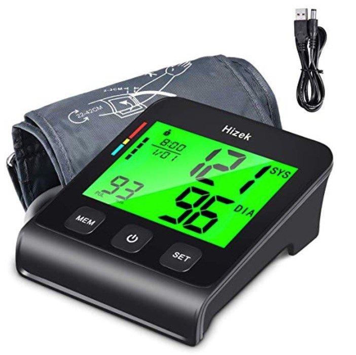 Hizek Oberarm Blutdruckmessgerät mit 4 Zoll Großbildschirm für 19,99€ (statt 30€)