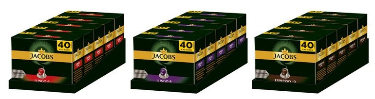 200 Jacobs Kaffekapseln für Nespresso-Maschinen