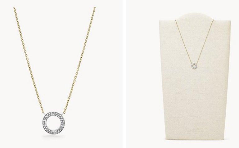 Fossil Glitz Damen Halskette
