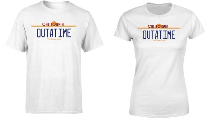 """Offizielles Zurück in die Zukunft T-Shirt """"Outatime"""" für 10,99€ inkl. VSK"""