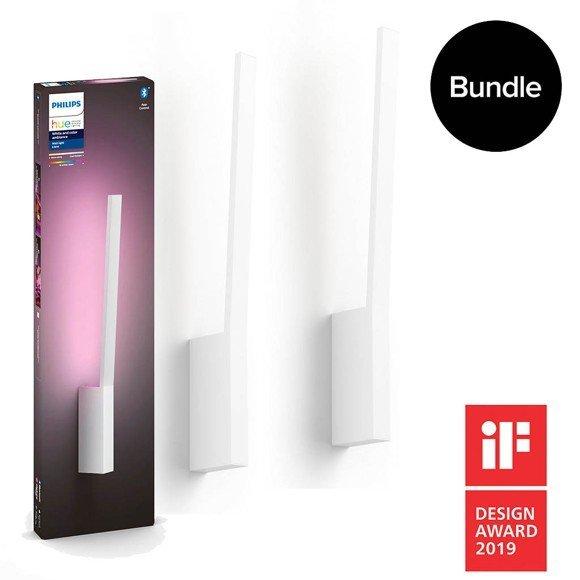 Philips Hue Liane Color Wandleuchte Doppelpack mit Bluetooth für 241€ (statt 286€)