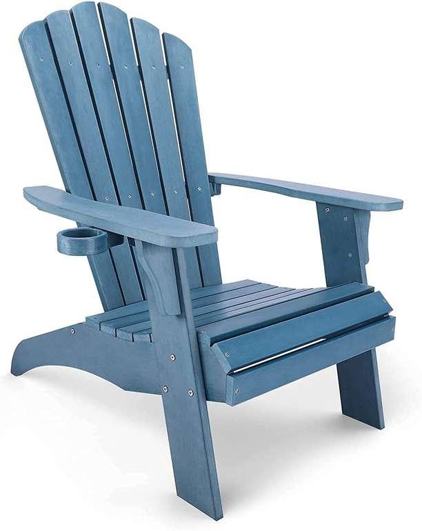 Wilrex Gartenstuhl Adirondack in Holzoptik aus Poly-Holzmaterial für 119,57€ inkl. Versand (Statt 200€)